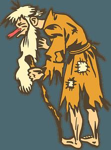 Old beggar clipart