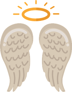 Angel wings clipart
