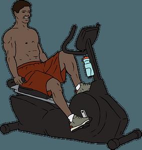 Exercise Bike Man clipart