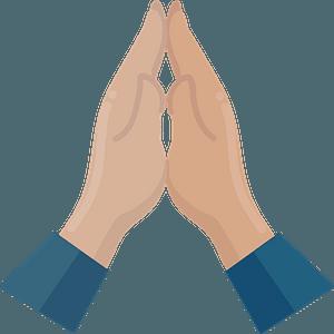 Praying hands clipart