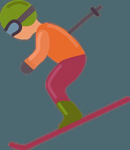 Skier clipart