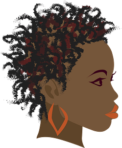 Girl with twist braids clipart