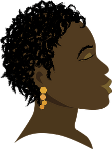 Girl with closed eyes clipart