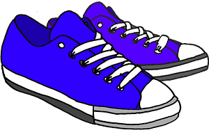 Blue sneakers clipart