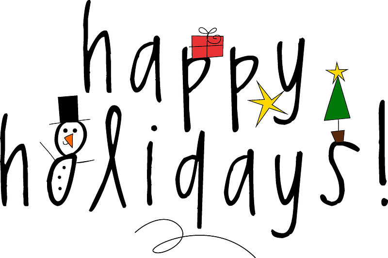 Happy Holidays card clipart. Free download transparent ...