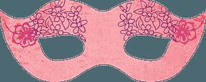 Pink masquerade mask clipart