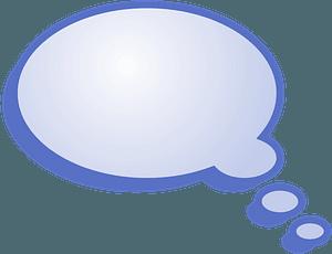 Blue speech bubble clipart