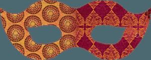 Golden masquerade mask clipart
