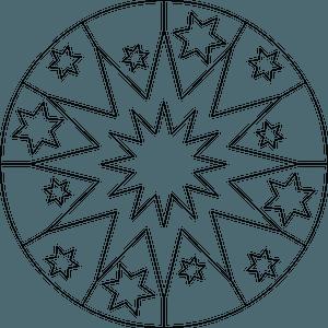 Star mandala clipart