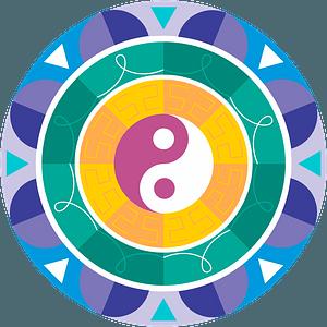 Mandala with yin-yang clipart