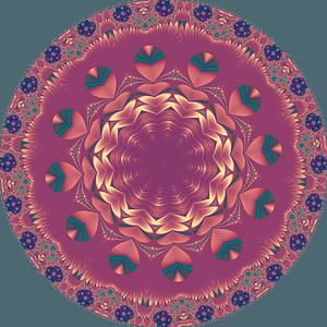 Purple mandala clipart