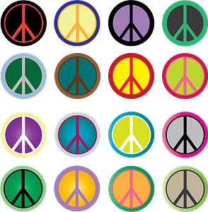Peace sign pattern clipart
