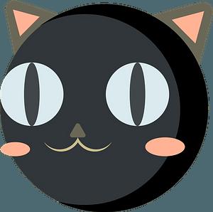 Black cat face 클립 아트