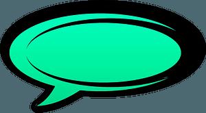 Green speech bubble clipart