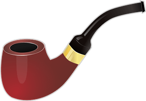 Smoking pipe clipart