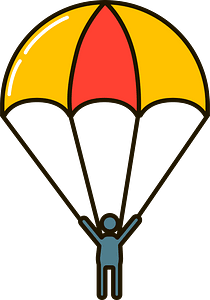 Parachutist clipart