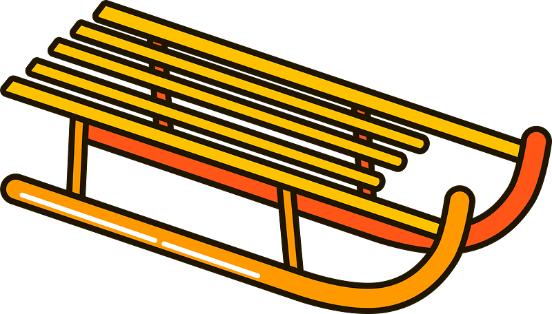 Sled clipart