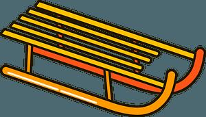 Sled clipart