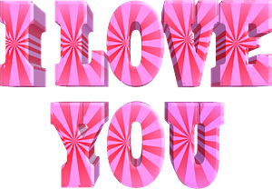 I love you stylized lettering clipart