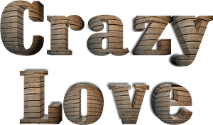 Crazy love stylized lettering clipart