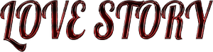 Love story stylized lettering clipart