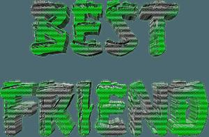 Best friend stylized lettering clipart