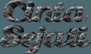 Cinta Sejati stylized lettering clipart