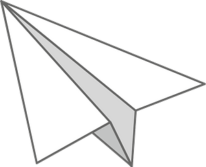 Paper airplane clipart