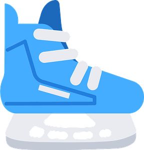 Ice hockey skate кліпарт