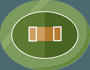 Cricket field clipart