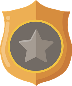 Police badge clipart