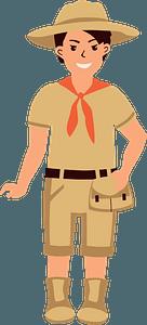 Boy Scoutのクリップアート
