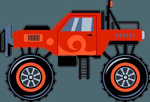 Monster truckのクリップアート