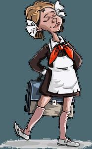 Soviet schoolgirl clipart