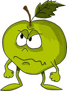 Cartoon apple clipart