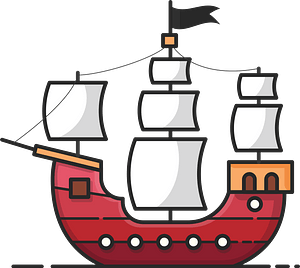 Pirate boat clipart