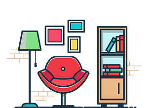 Reading room clipart