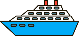 Cruise ship clipart