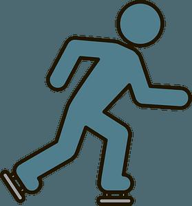 Ice skater clipart