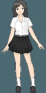 Student girl clipart