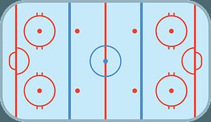 Ice hockey rink clipart