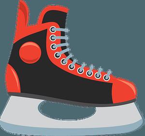 Ice hockey skate clipart