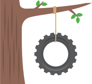 Tire swing clipart