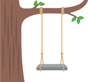 Tree swing clipart