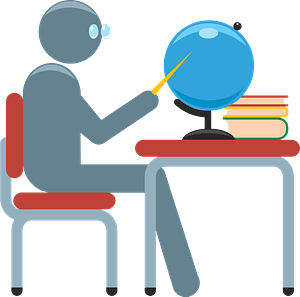 Teacher desk clipart