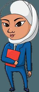 Arabian girl student clipart