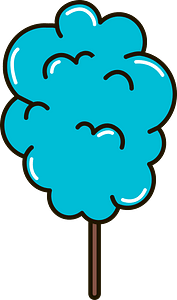 Cotton candy clipart