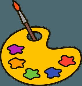 Paint palette clipart