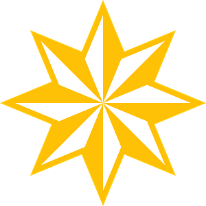 8-point Christmas star clipart