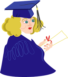 Graduated student clipart
